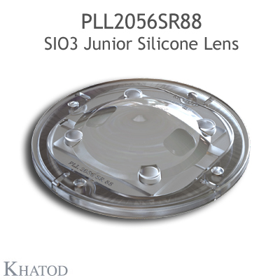Silicone Lens for COB LEDs - 85.09mm diameter - 16.76mm height - 90° FWHM