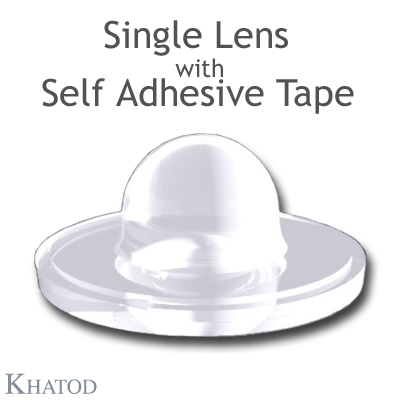 Single Lenses for Power LEDs with Self Adhesive Tape - 21.50mm diameter, 9.51mm height