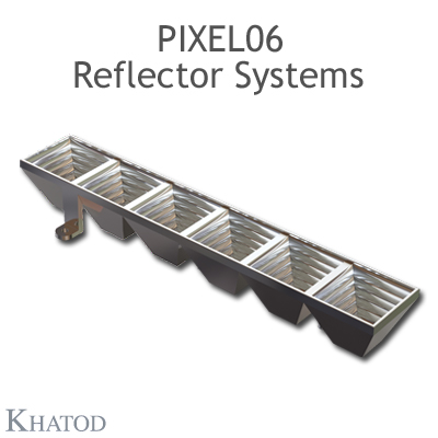 Pixel 06 Reflector Systems for Power LEDs - 27,96mm x 167,64mm side - 21,73mm height