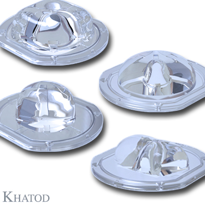 Silicone Lenses for COB LEDs - 100,00mm x 111,00mm side - from 31,36mm to 42,93mm height