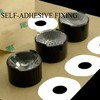 Single Lenses Self-Adhesive Fixing for Power LEDs with Black Holder - 21,70mm diameter - 11,86mm height