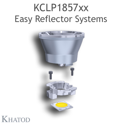 Reflectors without connector for COB LEDs - 49,90mm diameter - 43,31mm height - Medium Beam