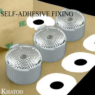 Single Lenses Self-Adhesive Fixing for Power LEDs with Holder; Elliptical Beam