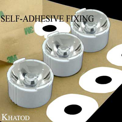 Single Lenses Self-Adhesive Fixing for Power LEDs with Holder; Narrow Beam
